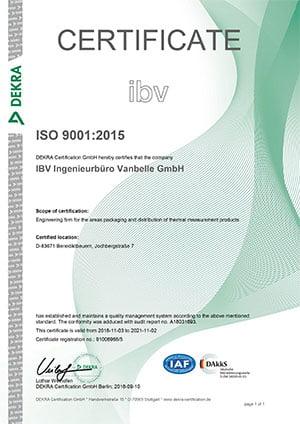 IBV Temperatur- Meßstreifen